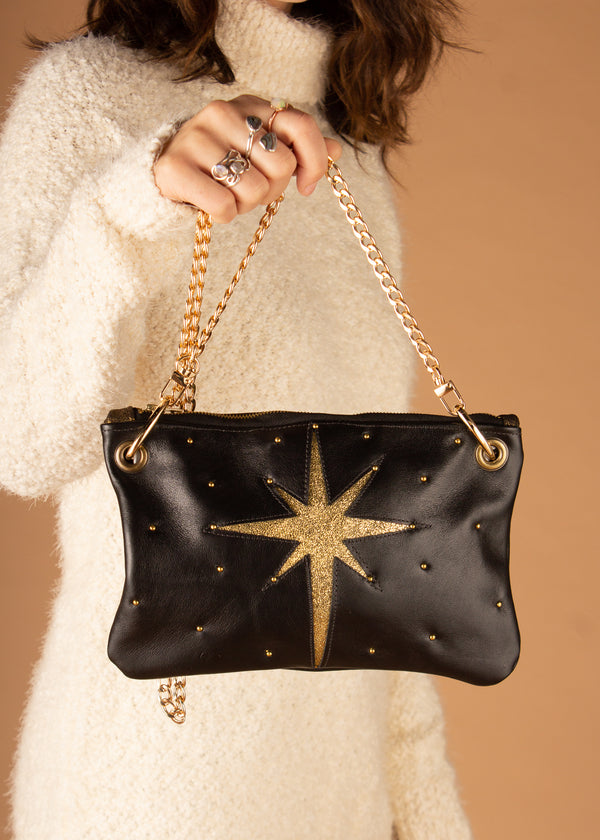 Celestial Black Crossbody Bag - Small