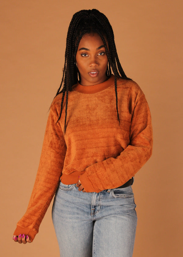 Jam On Rust Crew Neck Pullover