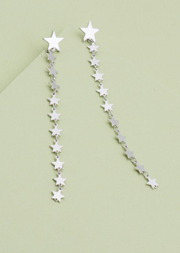 "Star Sterling Silver Post 4.5"" Earring"