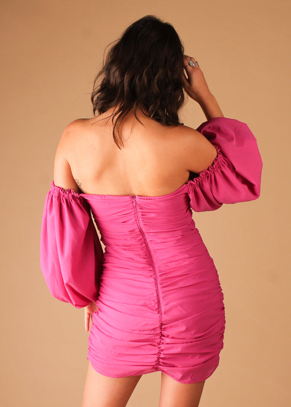 Bali Mini Dress - Hot Pink