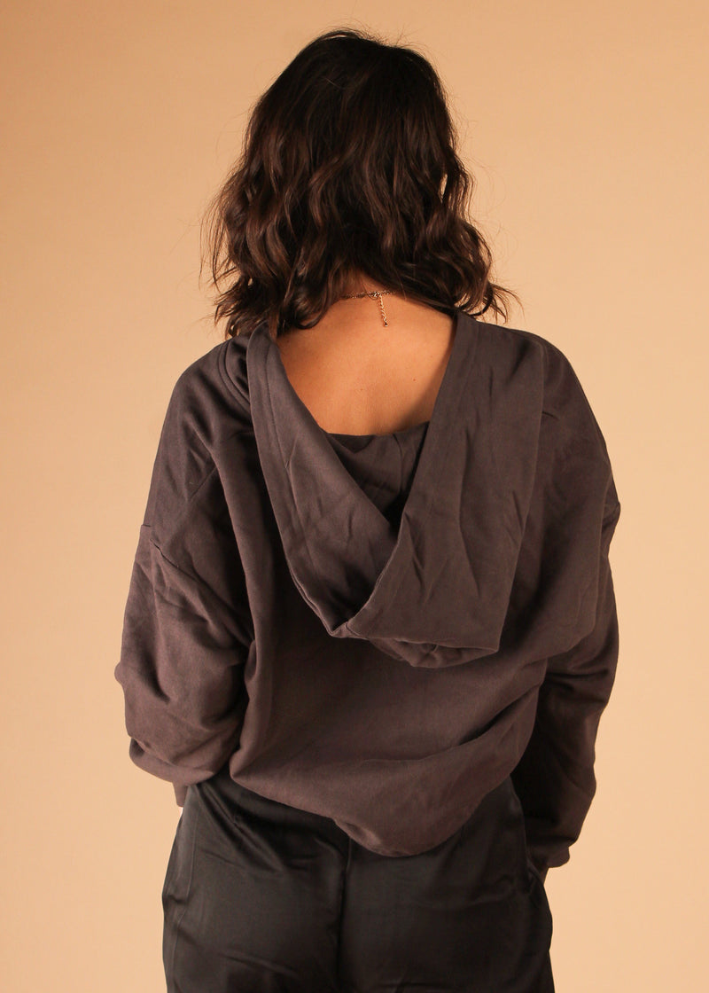 Cool Wind Sweatshirt Top Charcoal