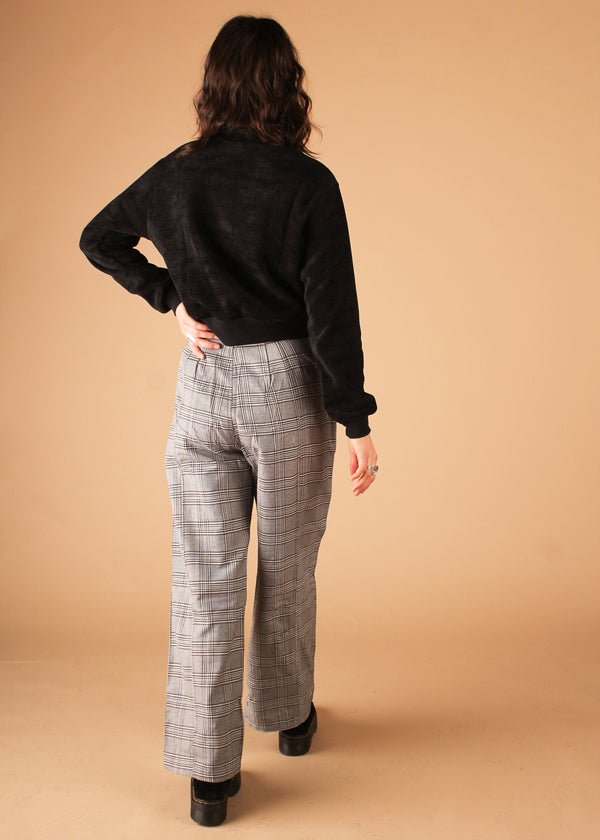 Drama Grey Plaid Pants
