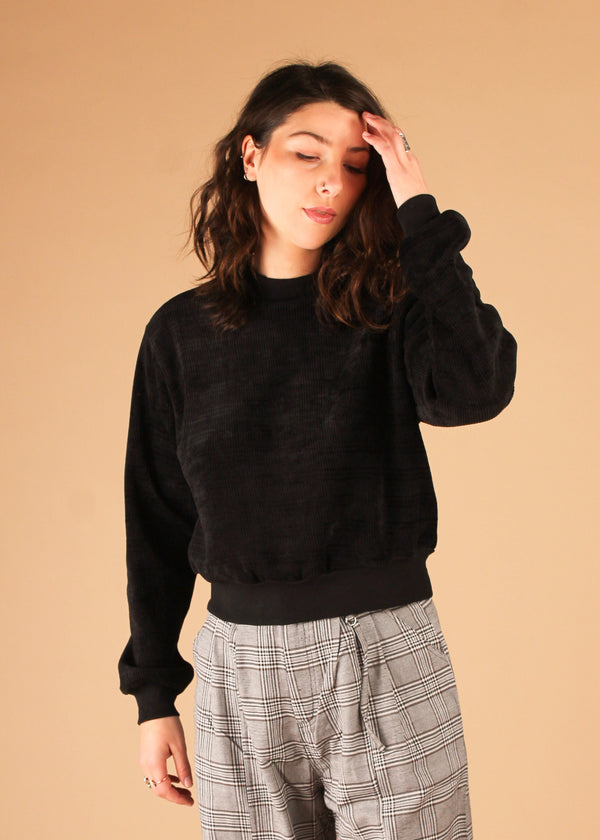 Jam On Black Crew Neck Pullover