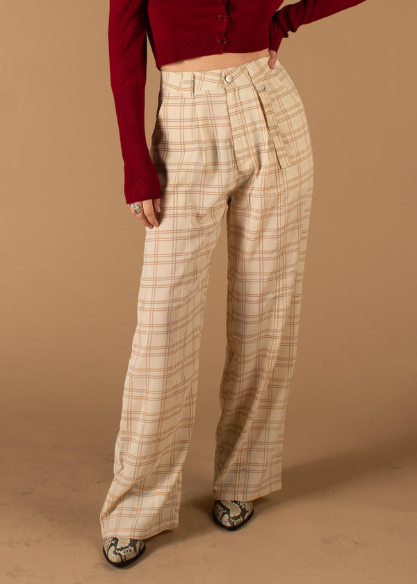 Neisha Plaid Belted Pants