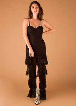 Blithe Lace Tiered Maxi Dress