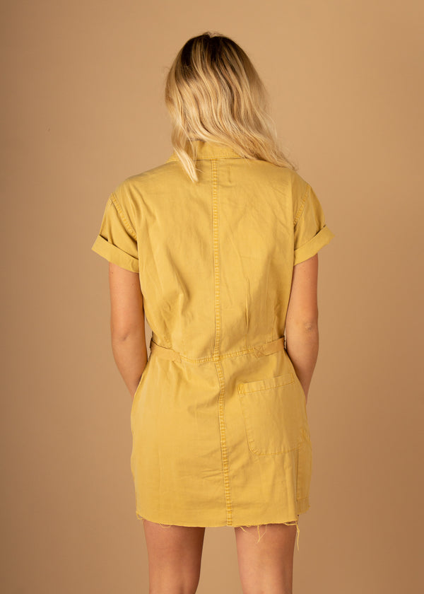 Clara Field Suit Dress Glazed Yellow