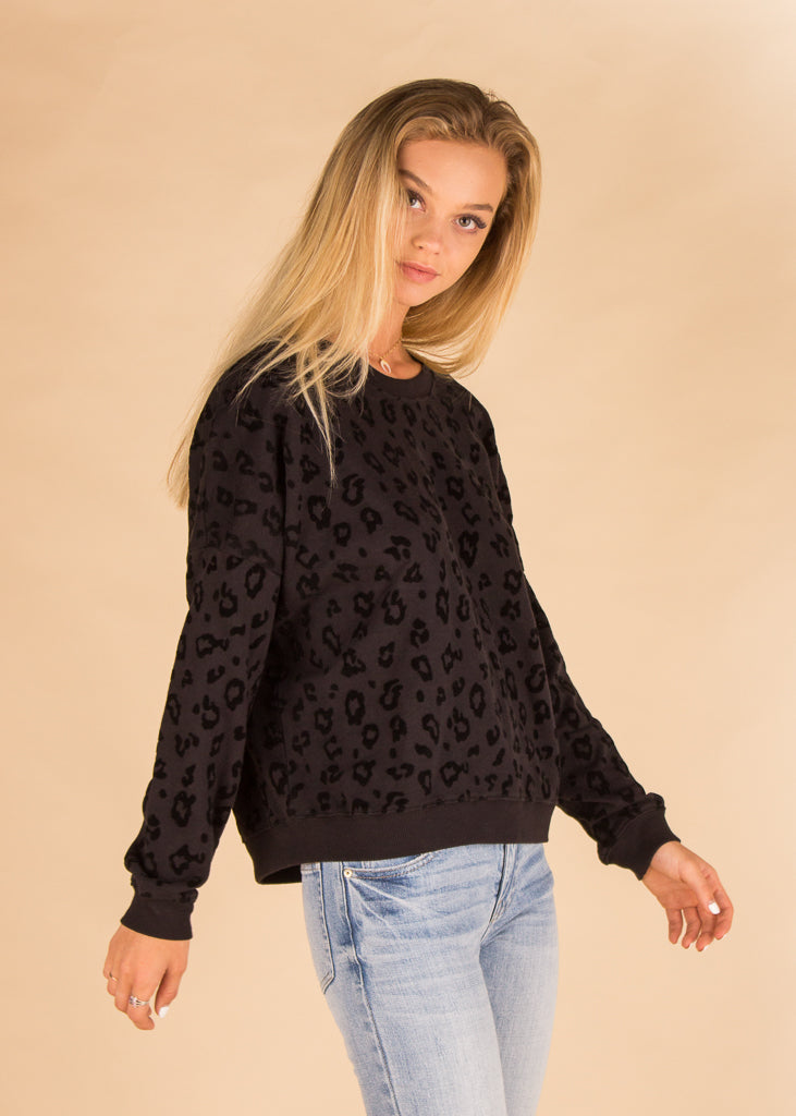 The Animal Flocked Pullover Black