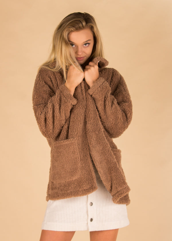 The Sherpa Teddy Bear Coat - Toffee