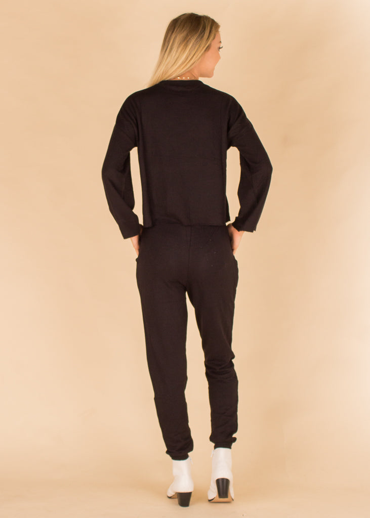 The Premium Fleece Jogger Black