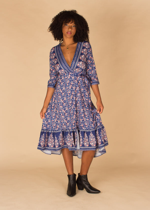 Shady Garden Wrap Dress