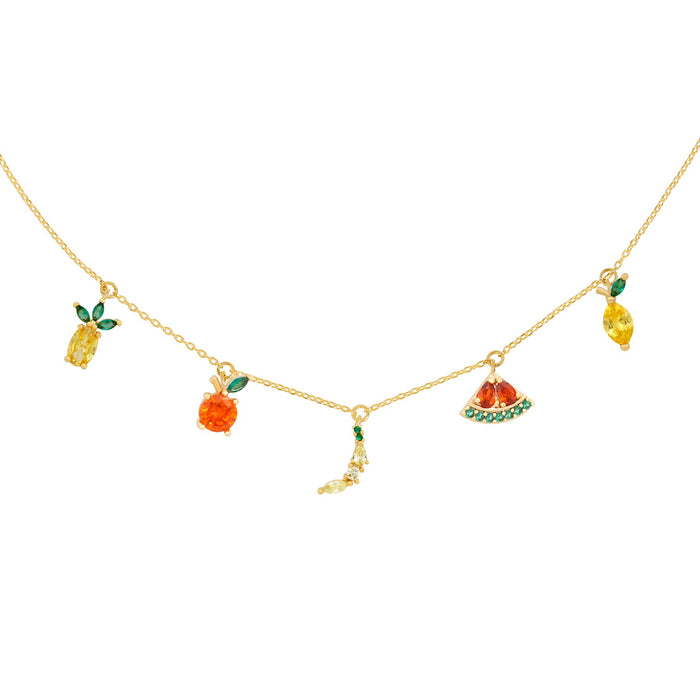 Tropical Fruit Basket Choker