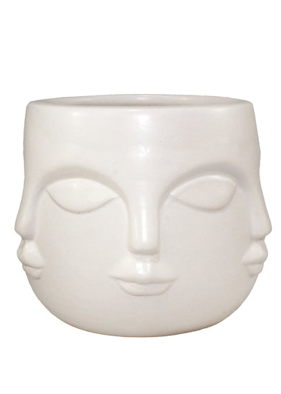 Multi Faced Planter Pot White