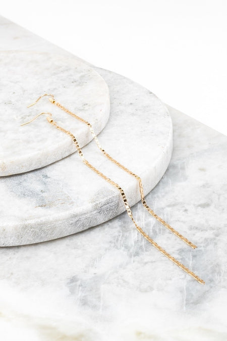 Alecia Chain Hoop Earrings