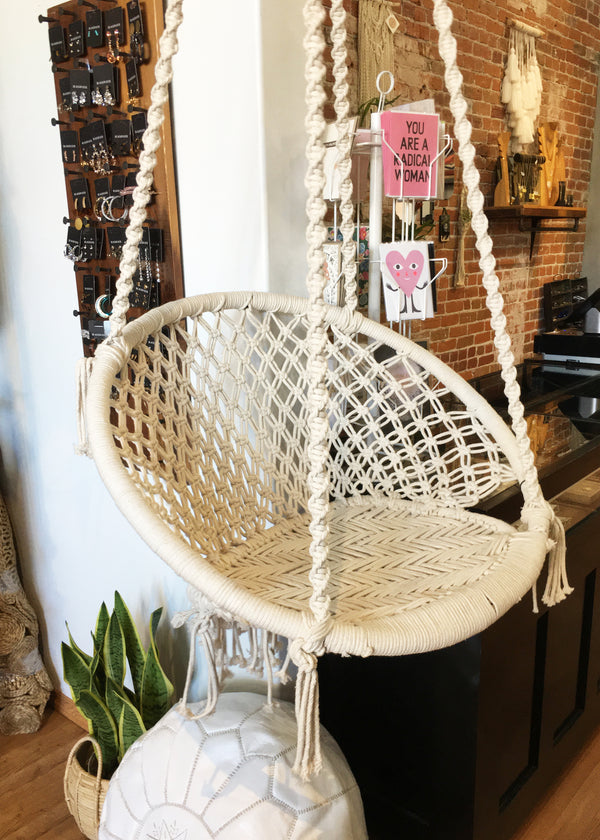 Hand Woven Bamboo and Rope Chair