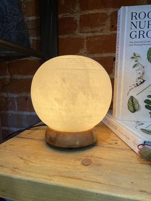 White Salt Lamp Globe Lamp