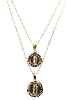 Medallion Layers Set Of 2 - Gold