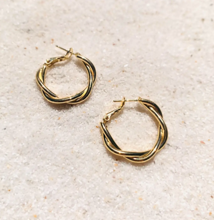 Tainted Love Hoops 14K GF