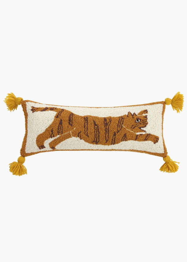 Tigress Pom Pom Hook Pillow