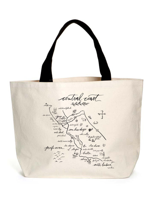 Central Coast Map Heavyweight Tote