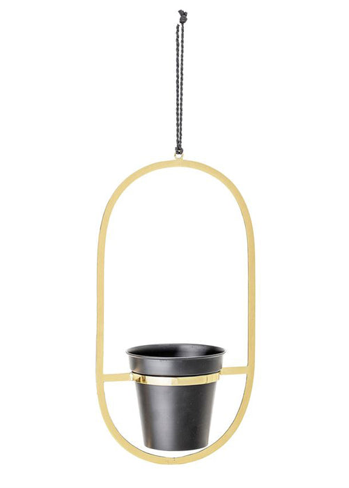 Black & Gold Plant Hanger