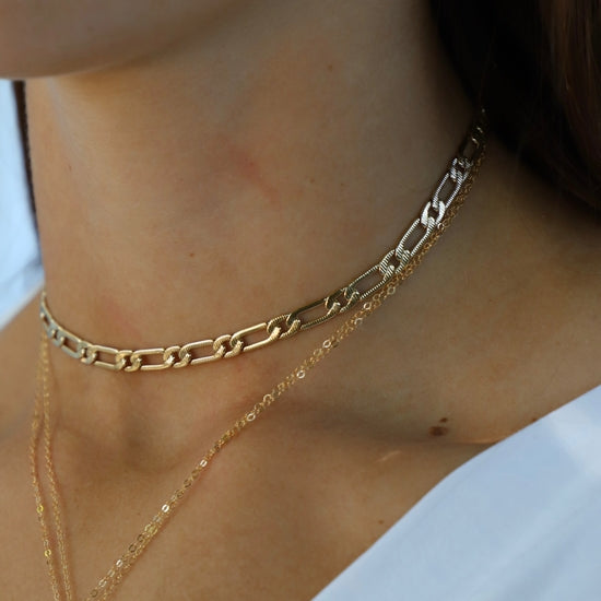 24kt Gold Plate Cleopatra Chain Necklace
