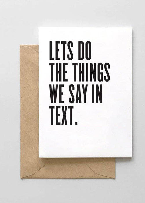 Lets Do The Things Card