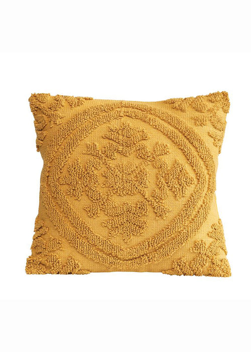 Mustard Chenille Pillow Square