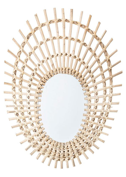 Oval Rattan Wall Mirror