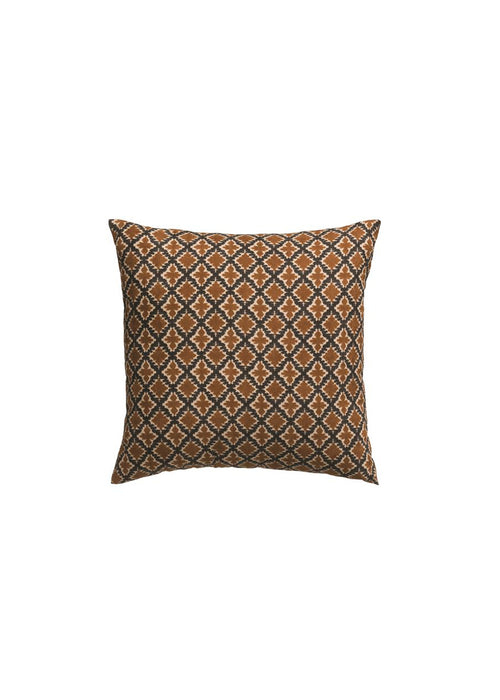 "18"" Brown & Navy Printed Pillow"