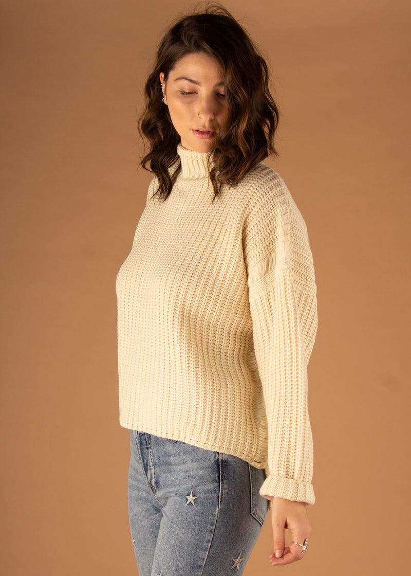 Cheryl Turtleneck Sweater - Cream