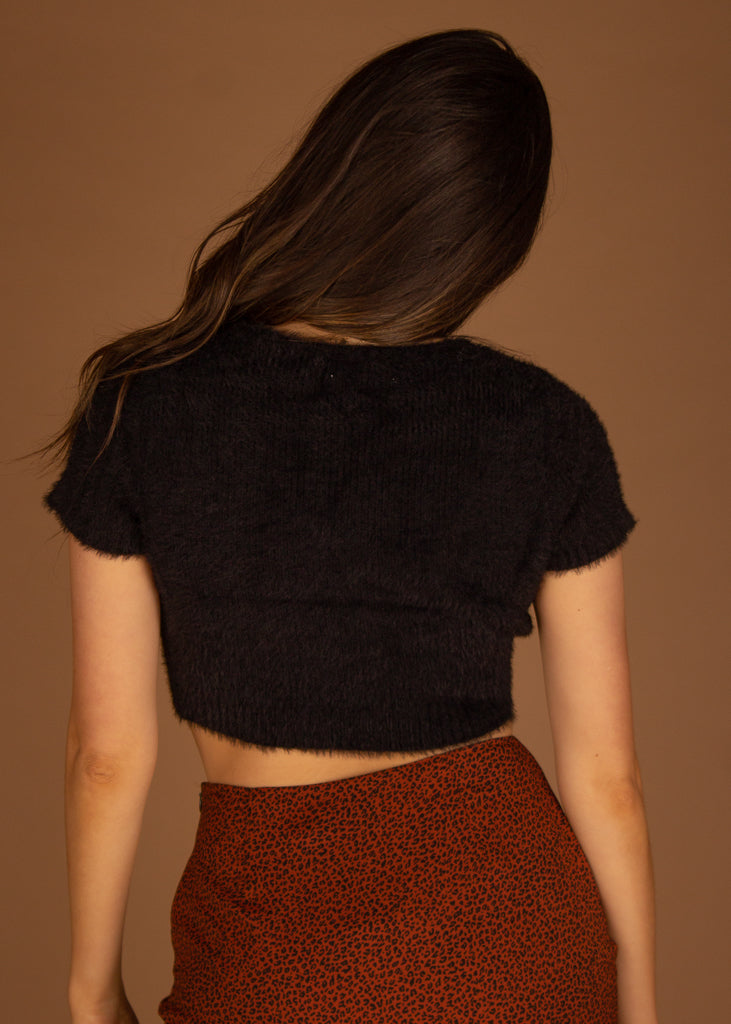 Bailey Fuzzy Cropped Sweater Top