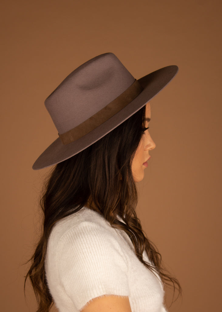 River Hard Brim Panama - Grey