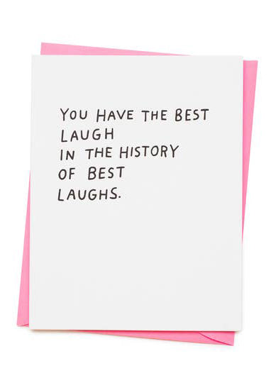Best Laugh Card