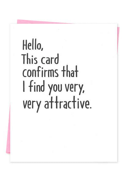 Find You Attractive Card