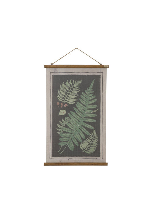 Fern Canvas And Wood Wall Scroll
