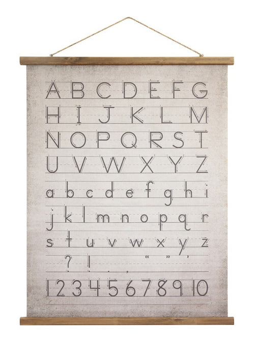 Schoolhouse Alphabet Scroll Wall Hanging