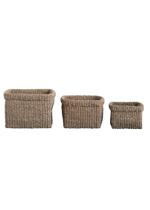 Country Square Seagrass Basket
