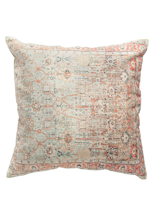 "24"" Square Cotton Distressed Pillow"