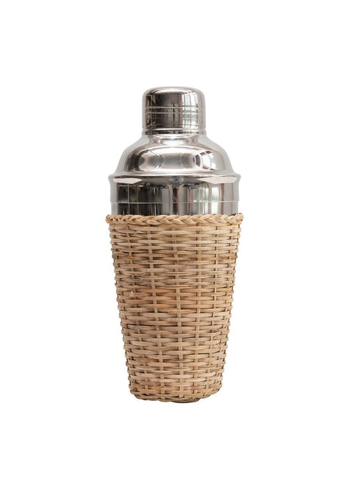 Cocktail Shaker with Rattan Sleeve