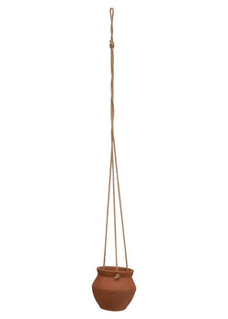 Hanging Terracotta Planter with Jute Rope