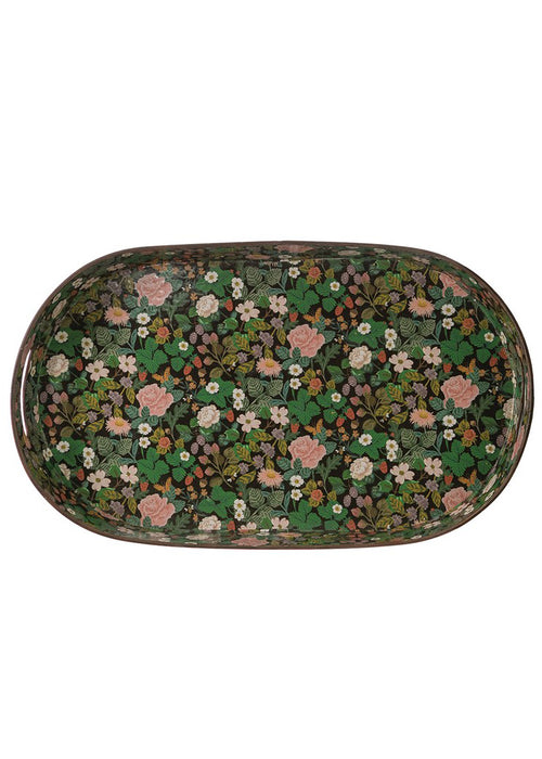 Decorative Floral Metal Tray