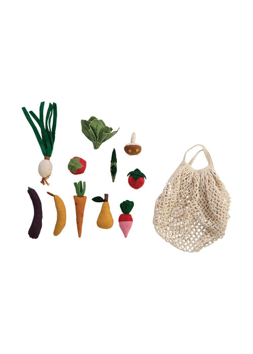 Canvas Fruit & Veggie with Market Bag
