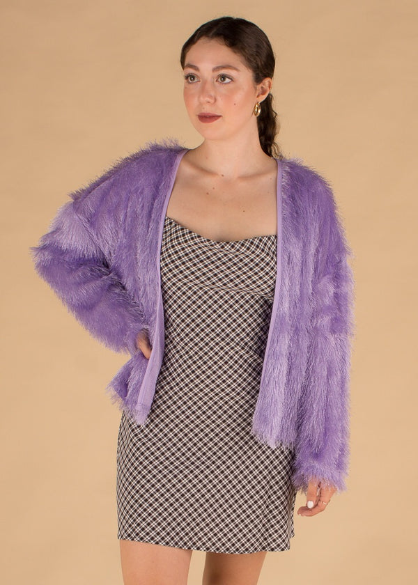 Lady Stardust Purple Shag Jacket