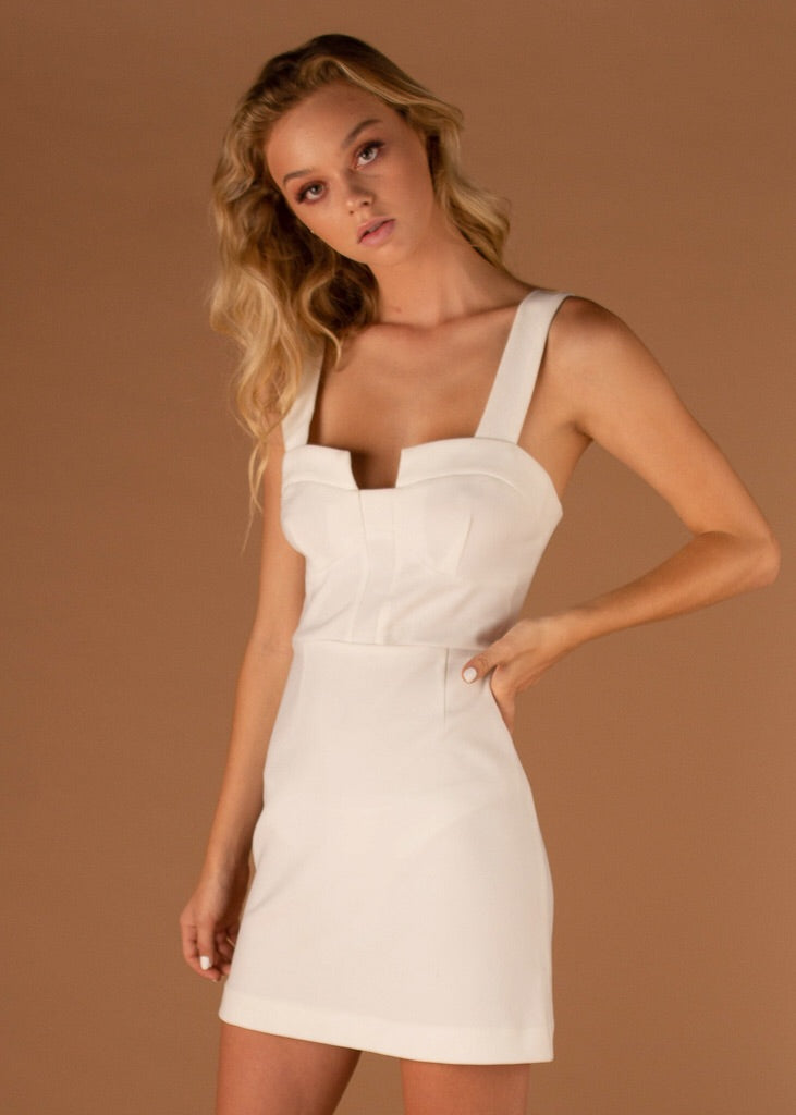 Luna Mini Dress White