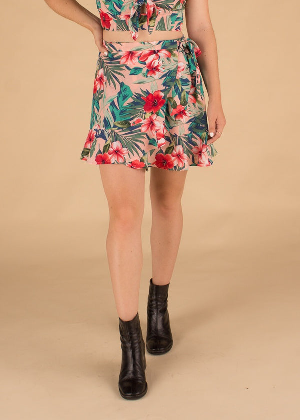 Tiki Tropical Wrap Skirt