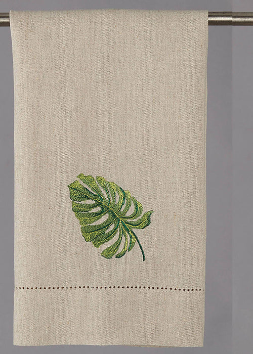 Tropical Leaf Kitchen Towel Set of 4