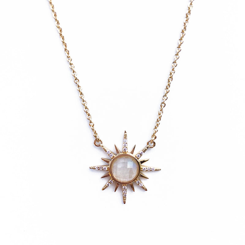 Gemstone Starburst Necklace