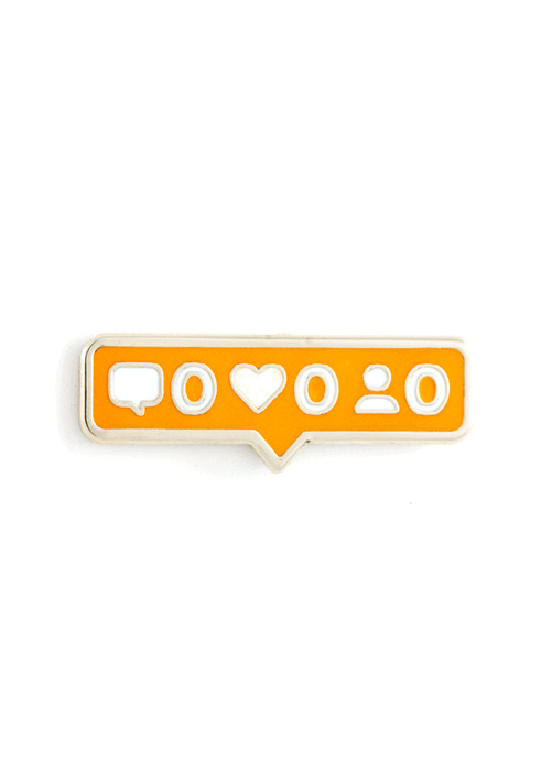 No Likes Enamel Pin