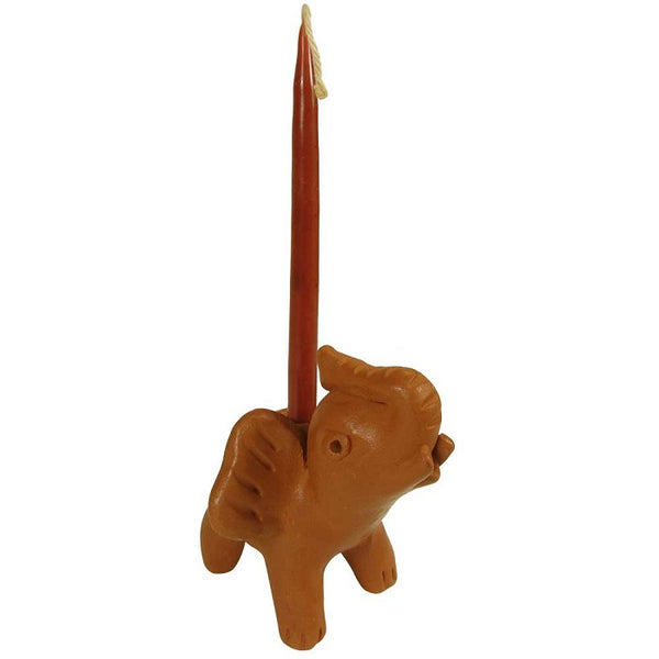 Terracotta Elephant Candle Holder