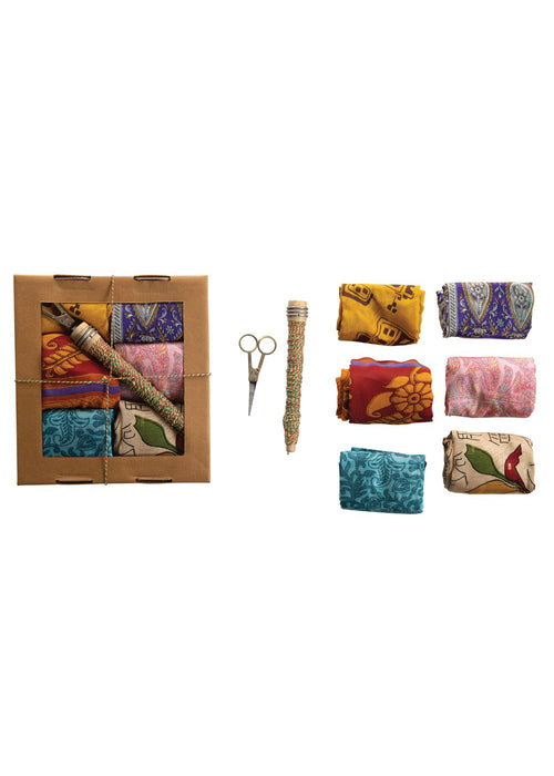 Vintage Silk Sari Wrapping Kit